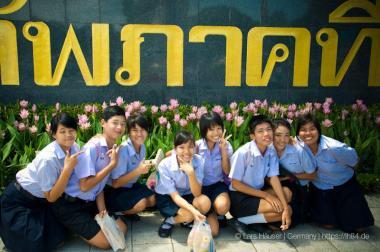 thailändische Schulkinder