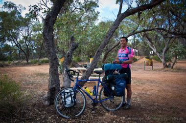 Jason with his bike