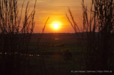 Sonnenuntergang im Window to the Wetlands am Adelade River